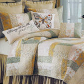 Audrey Patchwork Quilt and Bedding Set