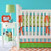 Caden Lane Bright Baby Green Crib Set