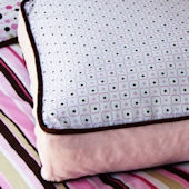 Caden Lane Classic Pink Square Accent Pillow