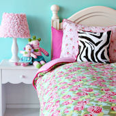 Caden Lane Funky Rose Duvet Bedding