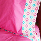 Caden Lane Ikat Pink Sheet Set