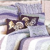 Ocean Waves Standard Quilted Sham