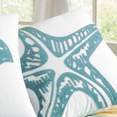 Waters Edge Rice Stitch Star Fish Pillow