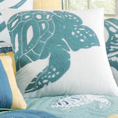Waters Edge Rice Stitch Turtle Pillow