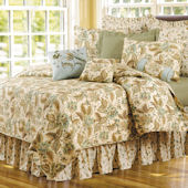 Amelia Blue Quilt and Bedding