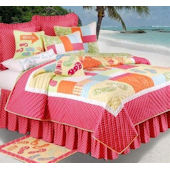 Flip Flops on the Beach Quilt and Bedding