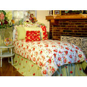 Davenport Red Woodrose  Bed Collection