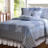 Greenland Home Fashions Casa Azure Quilt Set