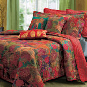 Hibiscus Jewel Quilt Set