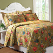 Greenland Home Fashions Mendocino Quilt Set