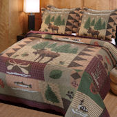 Greenland Home Fashions Moose Lodge Quilt Set