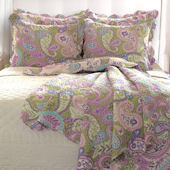 Greenland Home Fashions Portia Paisley Quilt Set