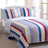Greenland Home Fashions Prairie Stripe Quilt Set