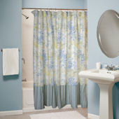 Greenland Home Fashions Coral Blue Shower Curtain