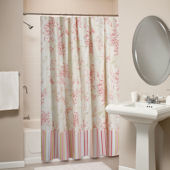 Greenland Home Fashions Coral Red Shower Curtain