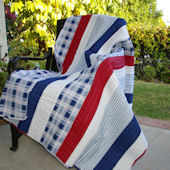 Greenland Home Fashions Nautical Stripe Throw