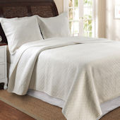 Greenland Home Fashions Vashon Ivory Quilt Set