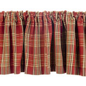 Glenna Jean Carson Red Plaid Window Valance
