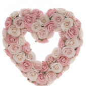 Glenna Jean Rose Bud Heart Wreath