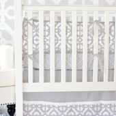 Caden Lane Grey and White Mod Crib Set
