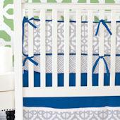 Caden Lane Navy and Gray Mod Crib Set