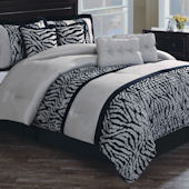 Pleated Safari Stripe Comforter Set