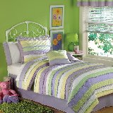 Annas Purple Ruffle Quilt Set