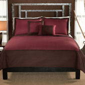 Barclay Chocolate Red Quilt Set