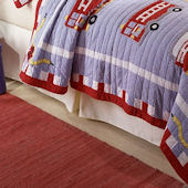 Cotton Fire Truck Bed Skirt