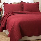 French Tile Red Bedspread