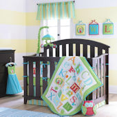 Laura Ashley Owplhabet Sage 4 Piece Crib Set