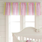 Laura Ashley Owlphabet Pink Window Valance