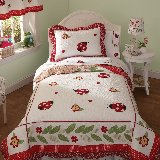 Ladybug Yard Quilt and Sham Set