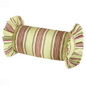 Green And Burgundy Neckroll Pillow SALE
